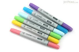copic ciao marker 6 color set brights jetpens com