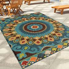 Discount Outdoor Rug Contemporary Bohemian Style 5 X 8 Indoor Outdoor