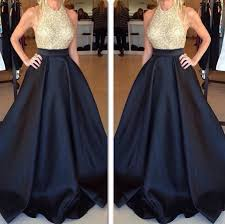 grad gowns dress black gold prom dress grad dress black dress gold