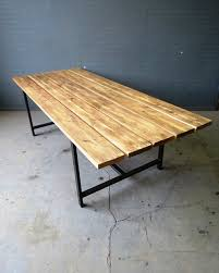 reclaimed wood outdoor table reclaimed industrial chic custom indoor outdoor table steel wood