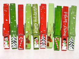 10 christmas clothespins hand painted magnetic set everything