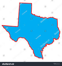 Map Of The State Of Texas Map State Texas Stock Vector 482968792 Shutterstock