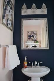 navy blue and white bathroom bathroom decor