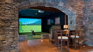 room decor simulator golf simulator man cave construction man
