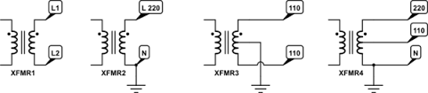 ac in a single phase transformer output which wire would be