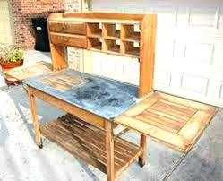 potting table with sink potting table potting bench with sink plans kitchen cabinets plans