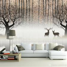 nordic modern minimalist living room decorative painting wall wall mural vintage nostalgic dark forest elk 3d tv backdrop decorative painting living room study restaurant