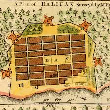 Nova Scotia Canada Map by 1750 Map Of Halifax Nova Scotia Canada W Plan U0026 View I