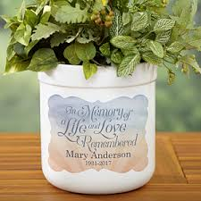 personalized flower pot personalized memorial outdoor flower pot in memory