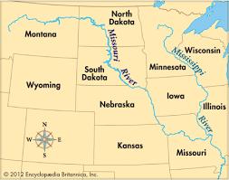 map of missouri river missouri river map with states missouri river social studies