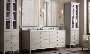 Bathroom Sconces Restoration Hardware I Like This Layout But Without Space Between The Sink Vanity And
