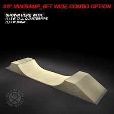 3 5ft micro mini ramp 6ft wide half pipe ramp works