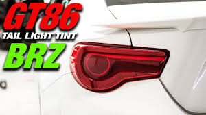 frs tail light vinyl gt86 brz red tail light tint overlays how to youtube
