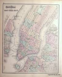 Vintage Maps Gray U0027s Atlas Map Of New York City Sold Antique Maps