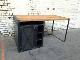 bureau metal et bois bureau bois metal industriel oaxaca digital info