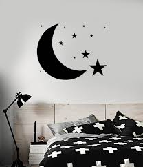 wall stickers and decals buy online decorations vinyl decal design for bedroom moon stars sky wall sticker