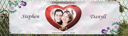 congratulations wedding banner wedding banners fully personalized for your wedding day