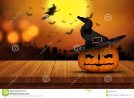 halloween graveyard background 3d halloween pumpkin on a wooden table with defocussed spooky im