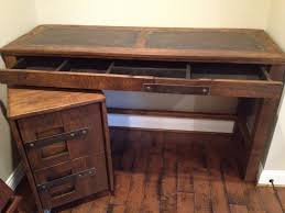wood metal desk diy metal desk with file cabinet u2014 all home ideas and decor