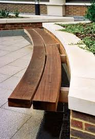 Bench Supports Gravel Patio With Curved Bench Bespoke Backless Curved Seat With