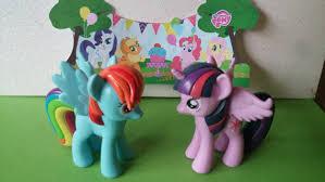 otter cake topper my pony cake topper rainbow dash twilight sparkle rings