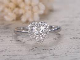 heart shaped engagement ring 1ct heart shaped moissanite ring forever classic moissanite