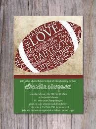 Baby Shower Invitation Cards Templates Free Baby Shower Invitations Sports Football Baby Shower Invitation