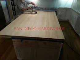 dust free wood floor restoration in san diego 858 699 0072 8 rancho sante fe butcher block countertop refinishing refinished all solid hickory flooring as well completed april 2016