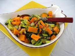 cuisiner le chou pointu sauté de chou pointu aux patates douces recette légumes