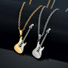 guitar necklace jewelry images Hamilton gifts stainless steel guitar necklace pendant 3 colors jpg