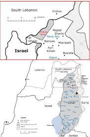 Lebanon Hills Map Shebaa Farms Wikipedia