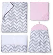 Zig Zag Crib Bedding Set Sweet Jojo Designs Pink Zig Zag 11pc Crib Bedding Set Kids