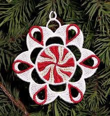 machine embroidery designs k lace peppermint