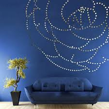 100 pcs heart round abstract wall mirror stickers cutestop cute wall art wall stickers room removable decorative decor