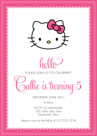 Hello Kitty Invitation Cards Hello Kitty Party Invitation Custom 15 00 Via Etsy Alivias