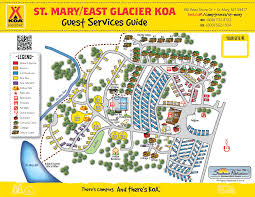 Map Of Glacier National Park Map Of St Mary Koa St Mary Koa Campground U0026 Lodges U2013 East
