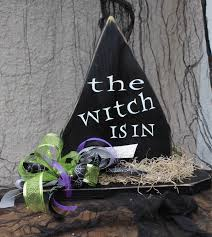 halloween decorations wood witch decorations wooden witch hat