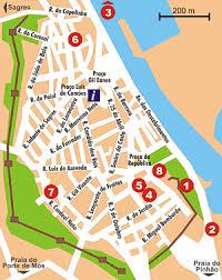 lagos city map algarve portugal tourism information city of lagos points