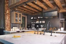 black kitchen cabinets in log cabin log home kitchens pictures design ideas