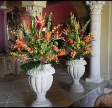 Outdoor Large Vases And Urns Large Artificial Floral Arrangements Foter