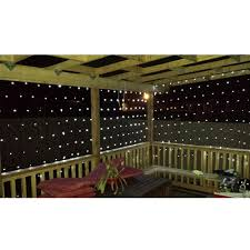 net mesh string lights 150 led white aleko