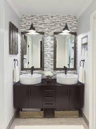Bathroom Framed Mirrors by Stylish Framed Double Mirrors For Chic Bathroom Idea Custom
