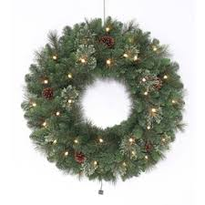 battery lighted fall garland shop artificial christmas wreaths at lowes com