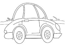 cartoon beetle car coloring pages place color