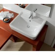bissonnet 222255 elements wall mount or above counter ceramic sink