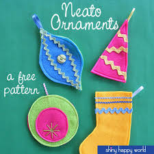 free patterns ornaments and shiny happy world
