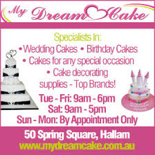 Wholesale Cake Decorating Supplies Melbourne My Dream Cake Cake Decorating Supplies Unit 2 261 Princes Hwy