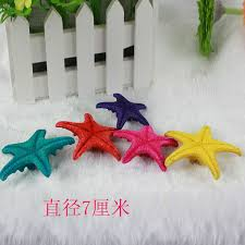starfish decorations coloured resin hexagon starfish decorative cheap wholesale