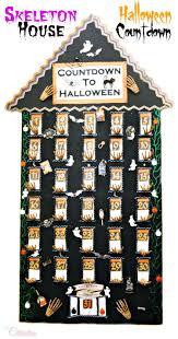 skeleton house halloween countdown little miss celebration
