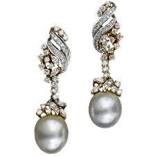 pearl and diamond drop earrings south sea pearl and diamond drop earrings 20 1 2127 lang